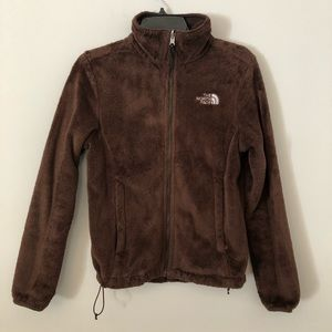 North Face Osito brown furry zip up jacket S